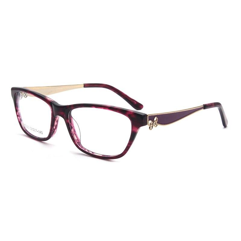 Image 3 - HOTOCHKI New Arrival Retro Eyeglasses Frames Women Butterfly Optical Prescription Elegant Female Acetate Frame oculos de grauWomens Eyewear Frames   -