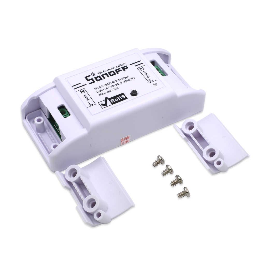 Sonoff podstawowe bezprzewodowy włącznik WIFI dla automatyki inteligentnego domu moduł przekaźnika wsparcie iOS Android 10A 90-250 V 220 V zdalnego kontroler