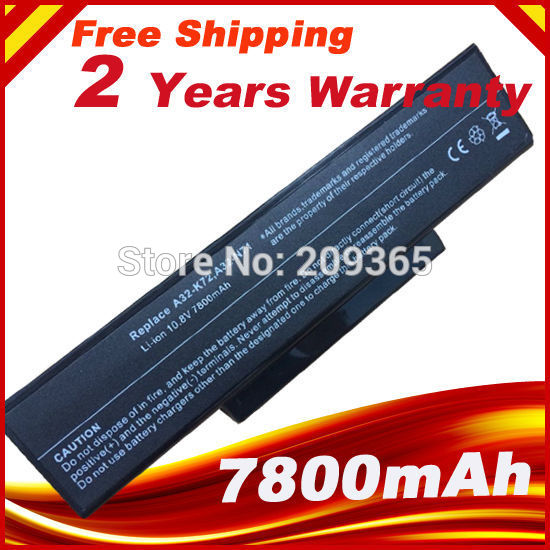 7800mah-Battery K72 K72DR K73SV A32-N71 Asus for A32-n71/K72dr/K72/..