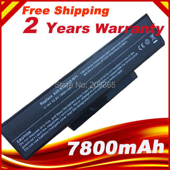 7800mAh batería para Asus A32-K72 A32-N71 K72DR K72 K72D K72F K72JR K73 K73SV K73S K73E N73SV X77X77VN k72-100 X77VN 9 celdas