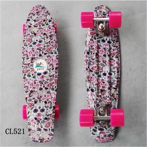 Image 5 - Bambino di Skateboard Appariscente Bordo Penny 22 pollici Fishboard Cruiser Banana Skateboard Mini Skateboard per I Bambini Sport Allaria Aperta