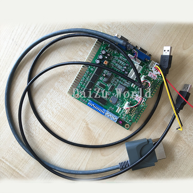 Arcade game converter board/Tekken Tag Tournament 2/XBOX 360 to JAMMA arcade fight/Tekken6 IO board / round control board safety and often converter 4 buttons to remote controle arcade transform screen to street fighter for tekken display