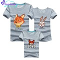 11Colors The Same Clothes For Mother And Daughter Cotton Mae E Filha Family Clothing Sets Cartoon father son matching clothes