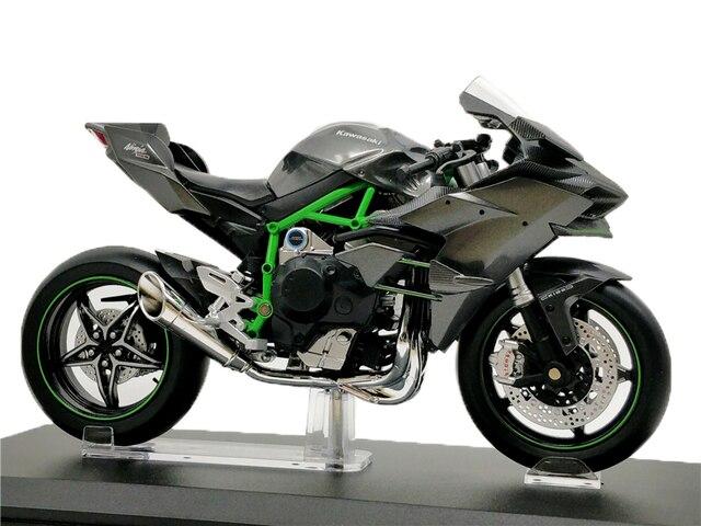 1:12 Aoshima Diecast Motorcycle Kawasaki Ninja H2R Super Motor Model Bike