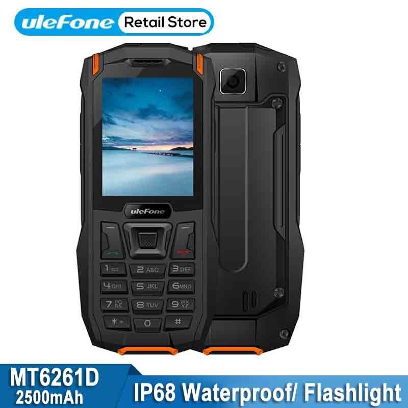 Ulefone панцири мини Водонепроницаемый мобильный телефон с IP68 2,4 MTK6261D фонарик беспроводной FM радио Lond голос 2500 мАч Dual SIM телефона