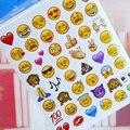 19 Folhas de Adesivos Hot Popular 960 Bonito Encantador Die Emoji a Cara do sorriso Para Notebook Mensagem Do Twitter Vinil Engraçado Criativo Decoração brinquedos