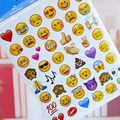 19 Sheets Stickers Hot Popular 960 Cute Lovely Die Emoji Smile Face For Notebook Message Twitter Vinyl Funny Creative Decor Toys