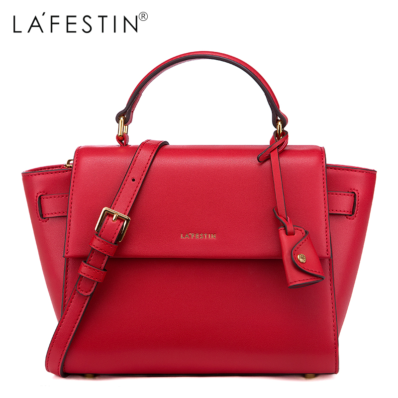 LAFESTIN Для женщин дизайнер Soild сумки натуральная кожа сумка Мода Универсальный Crossbody Роскошные Tote бренды bolsa