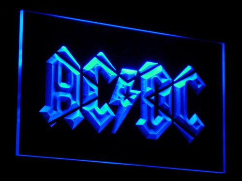 c079 ACDC AC/DC Band Music Bar Club LED Neon Sign with On/Off Switch 20+ Colors 5 Sizes to choose
