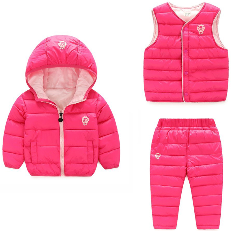 Mutter & Kinder Kleidung Sets Mädchen Kleidung Sets 2016 Winter Baumwolle Trainingsanzug Langarm Rose Floral Stickerei Sequinsets Kinder Kleidung Sets Kinder Anzüge