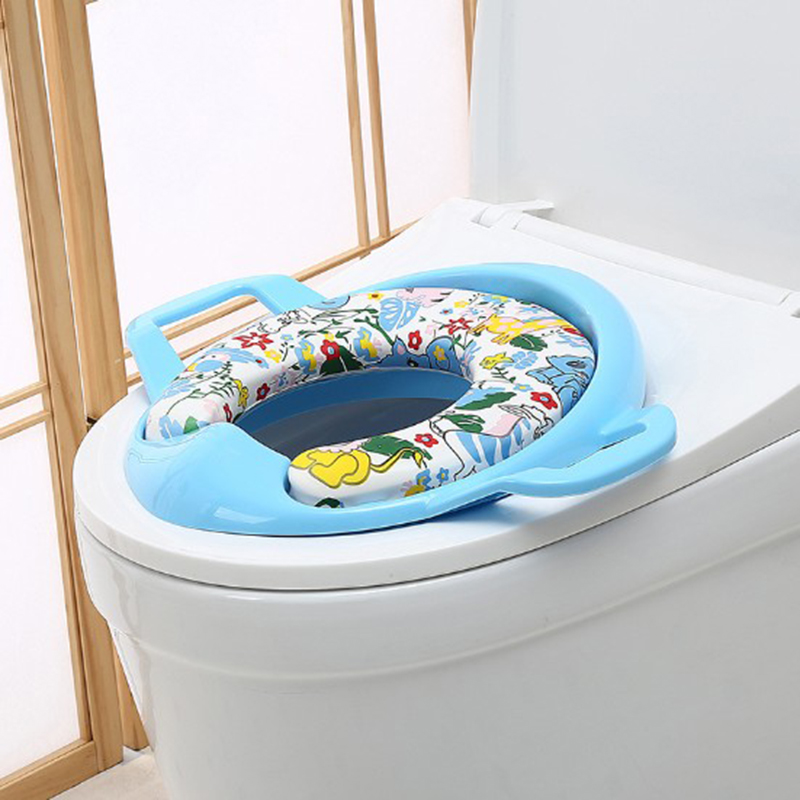 New Arrival Baby toilet ring Portable Toddler Infant Toilet Potty Seat WC Toilet Mat Soft Training Pad seat Plush Warm pad