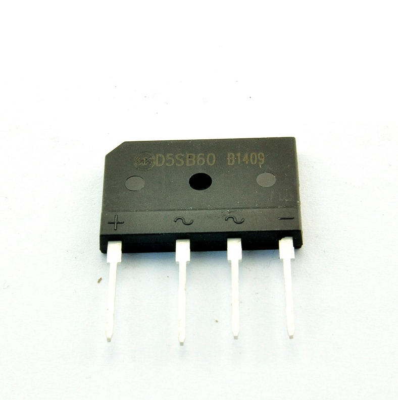 4pcs  Rectifier Bridge Rectifier Bridge D5SBA60 D5SB60 Flat Bridge (5A 600V)