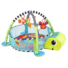 Tortoise Baby Play Mat 0-1 Year Game Tapete Infantil Educational Crawling Mat Play Gym Cartoon Blanket Ball Pit Toys Play Mat saful 4 3 inch door viewer digital zinc alloy doorbell with night vision motion detection video peephole door camera