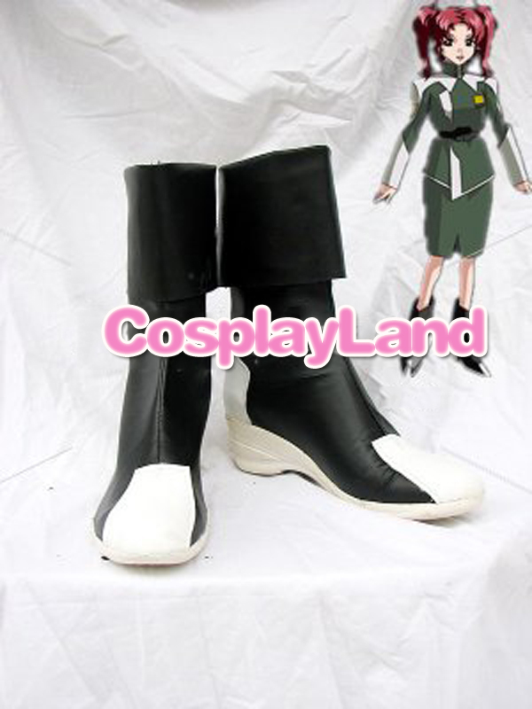 Gundam Seed Destiny Black and White Cosplay Boots Shoes Anime Party Cosplay Boots Custom Made for Adult Women Shoes