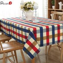 P Cotton Buffalo Check Tablecloth Plaid Table Cover Mediterranean Cloth Wedding Christmas