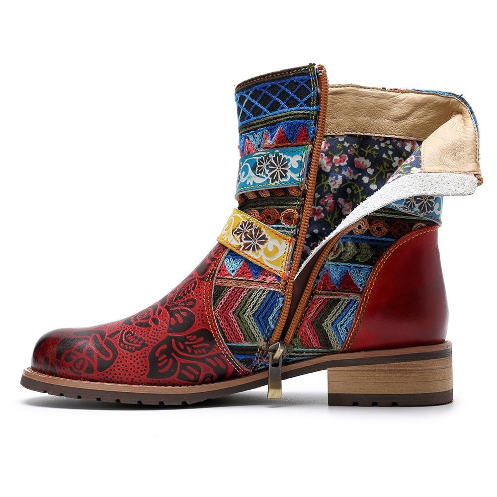 Moto Automne Glissière De Boucle Chaussures Courtes Mujer D Chevalier Bateaux Printemps Vintage 4xl67 Mode À En Véritable Bottes Femmes Hiver Cuir wBFfPq