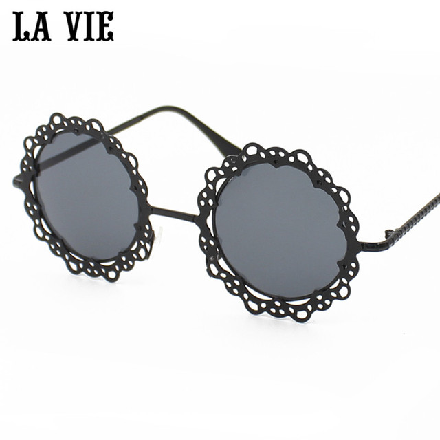3bb08f2ee61e LA VIE 2016 New Fashion Hollow Pattern Sunglasses Women Coating Mirror  Protection Sun Glasses Alloy Glasses UV400 Lavie LV3055