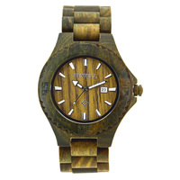 BEWELL Brand Design Wood Quartz Wristwatch Complete Calendar Men Analog Wooden Watches Wood Strap Relogio Masculino Gift 023B