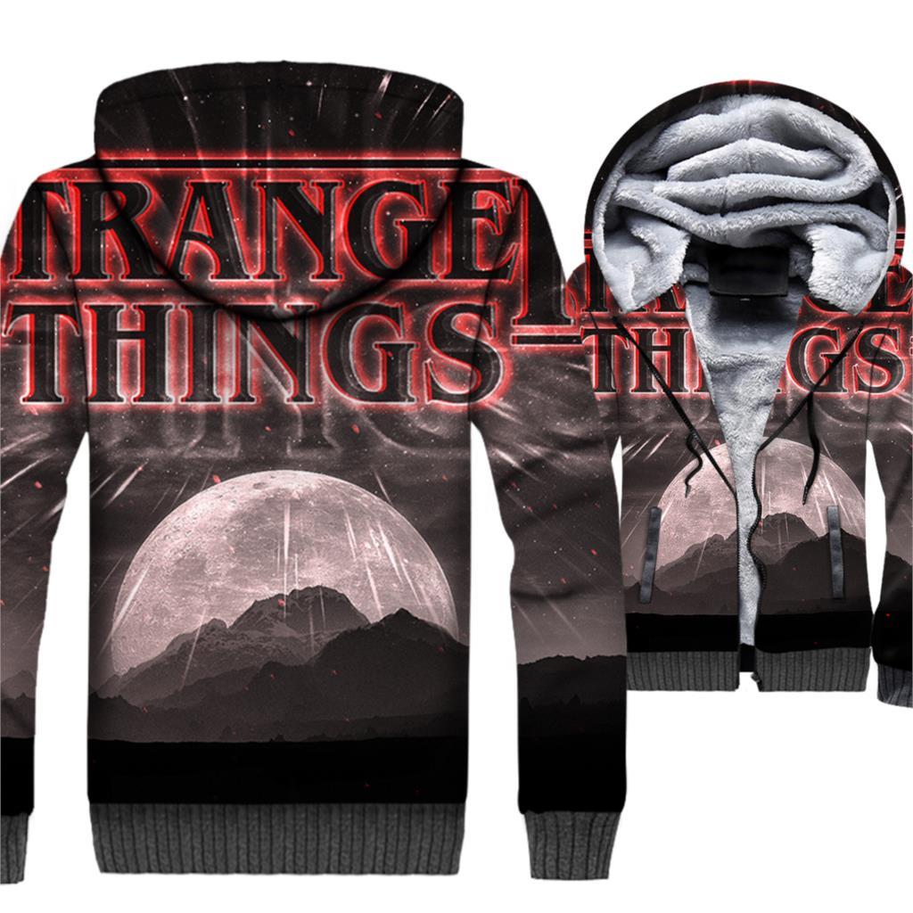 2018 High Quality Streetwear Hooded Hoddies Stranger Things Hip Hop Men's Sweatshirts Autumn Winter Fleece Coat Hoodies For Men
