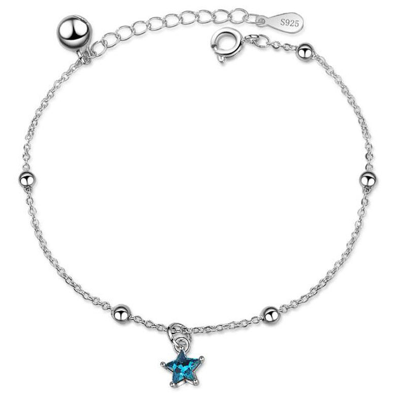 Aspiring Yu Xin Yuan Fashion Jewelry 925 Silver Bracelets Star Shape And Bell Decorations Bracelet For Women/girl Party Jewelry Jewelry & Accessories