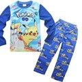 POKEMON ИДТИ Пижамы Дети Осень и зима с длинными рукавами мальчиков и девочек детская Рождество ребенок Пижамы