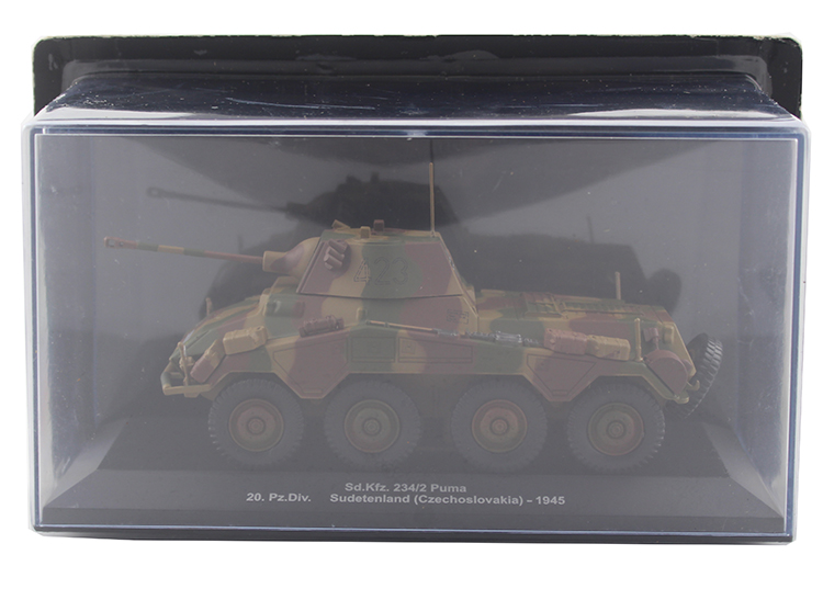 IXO 1/43 Model of heavy duty wheeled armored vehicle in Czechoslovakia Sd.Kfz.234/2 Alloy model Collection model Holiday gift original takstar pc k200 studio condenser microphone professional recording mike music create broadcast capacitor microphone