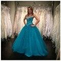 Vestido 15 años Princesa Vestido De Baile Quincenera Vestidos Com Frisada Beading Corpete Festa de Aniversário Do Doce 16 Vestido