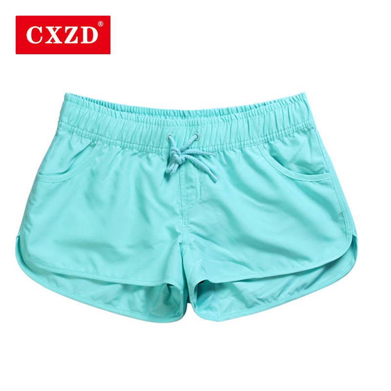 CXZD New Women Swim   Short   Solid Color Quick Dry Women Swimming   Shorts   Beach Sportswear   Board     Shorts   Swimsuit Women's Trunks