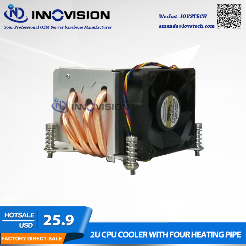 Excellent CPU Cooler with four heating pipe for LGA1150 1155 1156 2U/3u/4u server workstation 1u 2u 3u 4u rackmount dg4565f server chassis rails