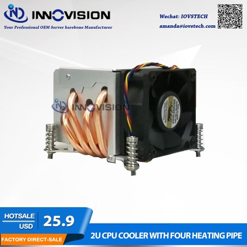Excelente enfriador de CPU con cuatro tubos de calefacción para la estación de trabajo del servidor LGA1150 151 1155 1156 2U / 3u / 4u