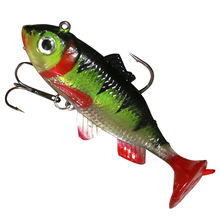 T Tail Rubber Soft Fishing Lure 80mm/16g  Wobbler Silicone Shad Isca Artificial Bionic Soft Worm Jigging Sea Fishing Bait Tackle цена