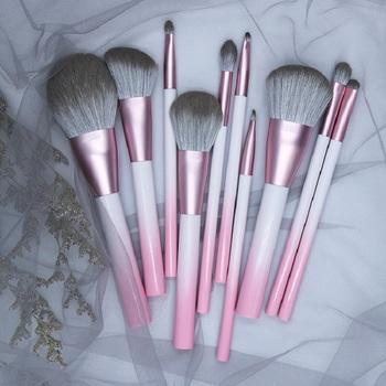 BBL gradientowe różowe pojedyncze pędzle do makijażu fundacja Powder Blush korektory cienie do powiek mieszanie Premium Face pędzel do makijażu powiek tanie i dobre opinie Włosy syntetyczne Proszek brush716-10 1 piece 1pcs only Drewna blush brush contour brush highlighter brush powder brush