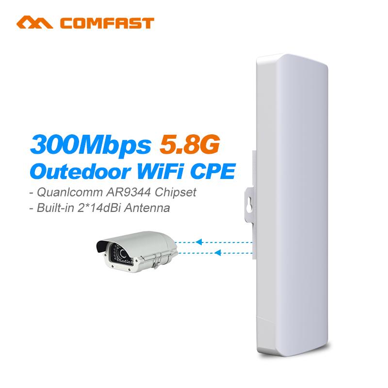 Prix pour 2 pc Comfast CF-E312A sans fil AP pont Sans Fil Longue Portée CPE 5.8 3GWIFI Signal Booster et Amplificateur Extérieur wifi répéteur couverture