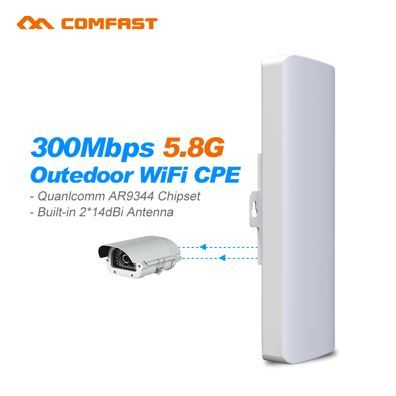3-5km Comfast CF-E312A wireless AP Wireless bridge Long Range CPE 5.8G WIFI Signal Booster Amplifier Outdoor wifi repeater Cover comfast outdoor wireless ap wifi router 300mbps 1 3km 500mw high power wifi signal booster amplifier ap cpe with 2 16dbi antenna