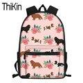 THIKIN школьные сумки для девочек-подростков Cavalier King Charles Spaniel  школьный рюкзак с принтом собаки  женские большие сумки для ноутбука  рюкзак