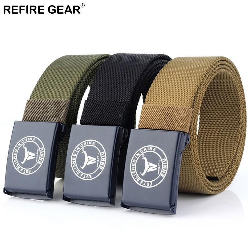 Refire Gear Outdoor Sport Belt Men Nylon Belt High Quality Strap Ceintures Belt Unisex Us Army Multifunctional Training Belt