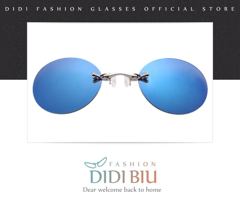 HTB1YDDvXjuhSKJjSspjq6Ai8VXad - DIDI Small Round Clip On Nose Mini Sunglasses Men Brand Cool Steampunk Sun Glasses Women Vintage Metal Black Coating Gafas H689