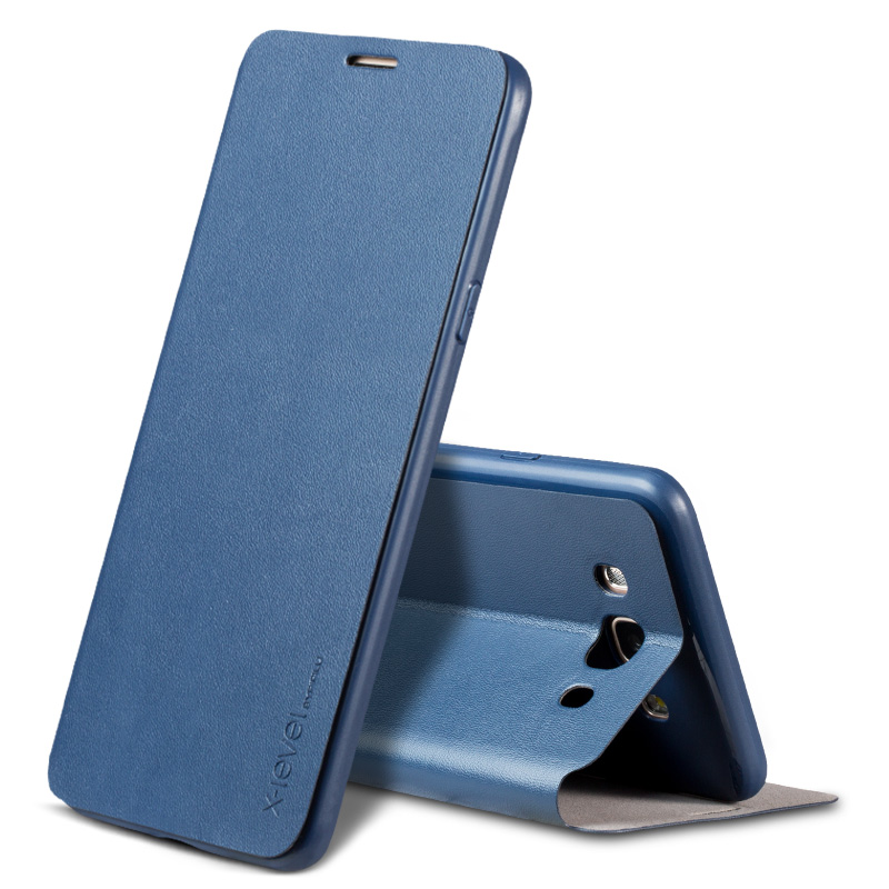 X-Level Luxury PU Leather Case for Samsung Galaxy J7 2016 J710 Flip Cover for Samsung J7 6/J710F/J710FN/J710M/J710H Stand Case
