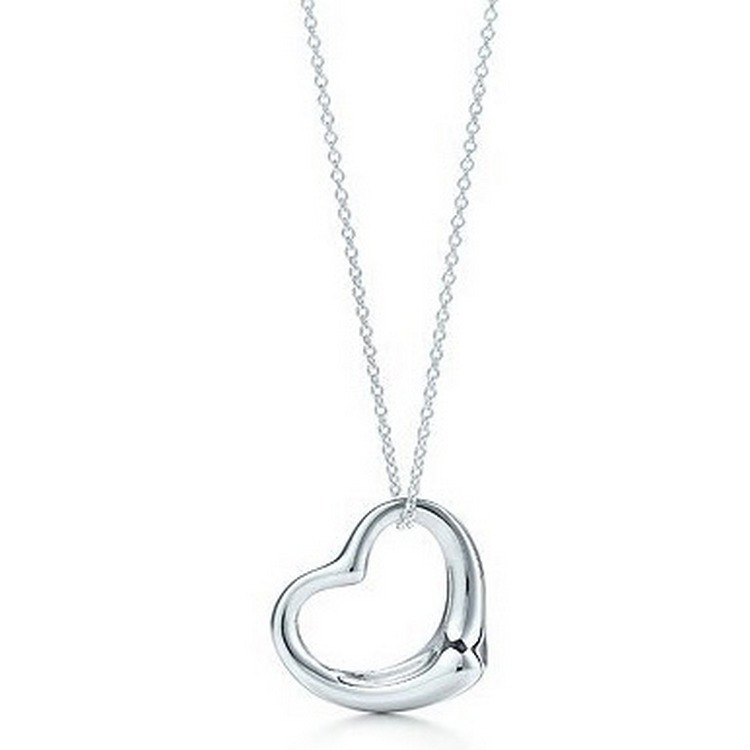 2018 Popular High-end Jewellery Necklace Silver Heart Pendant Necklace Jewelry Best Friends Heart Gifts For Women Gifts