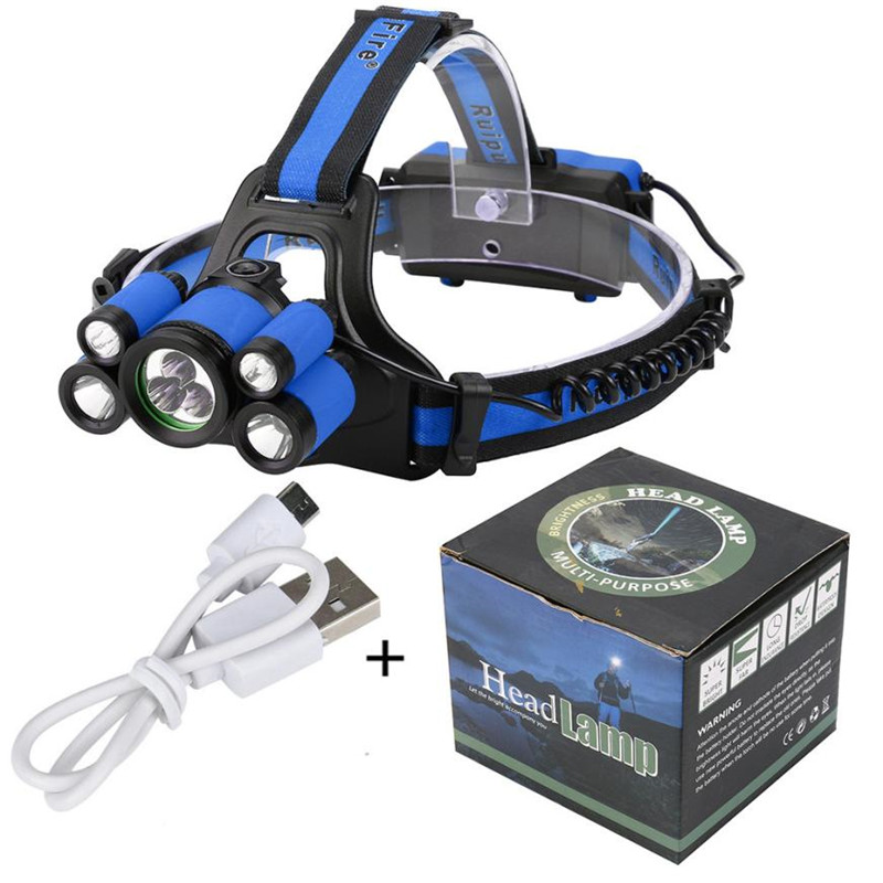 40000 LM Bicycle Light Headlight Cycling Front headlight 7X XM-L T6 LED Rechargeable Headlamp Travel Head Torch For Bicycle #^ cycling 9000lm 6x xm l t6 led head front bicycle light bike lamp headlamp torch