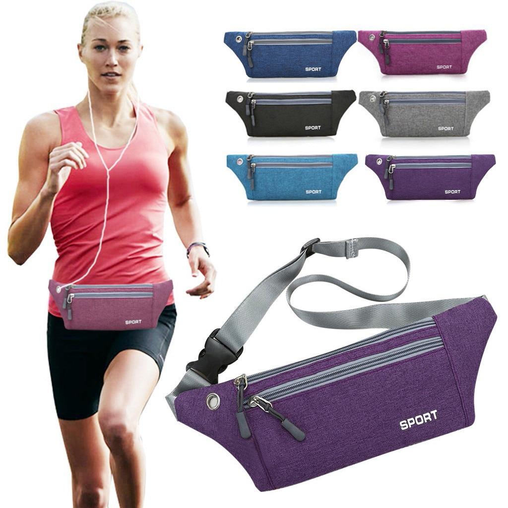 Women Men Multi-function Pockets Outdoor Sport Leisure Messenger Waist Packs Bag Bag Bolso De Cintura Black Fanny
