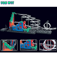 Free ship, Second Generation Space Rail Toys, New Roller coaster Level 1: UP DOWN STAIR, Overspeeding Model Building Kits 232 1