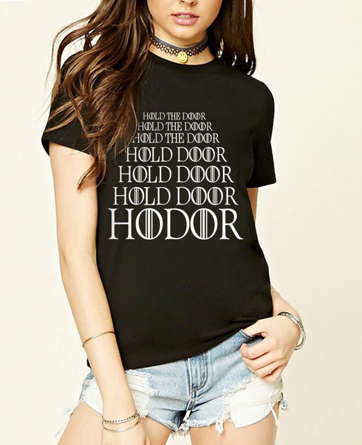 Game of Thrones Hold The Door Hodor Summer Casual Fashion Women's T-shirt
