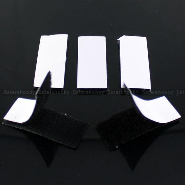 5 pcs Black Hook Loop Self Adhesive Fastener Strong Tape Magic Nylon Sticker Glue Set (3*10cm)