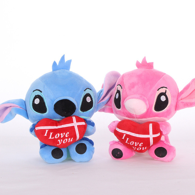 a7aa207d12ac 2pcs 18cm Super Cute Lilo and Stitch Plush Toys Doll Lovely Stitch Toys for kids  gifts