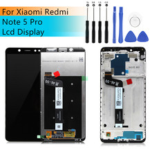 for Xiaomi redmi note 5 Pro pantalla LCD Display touch screen Digitizer with Frame Redmi Note 5 LCD Display Assembly Repair Part