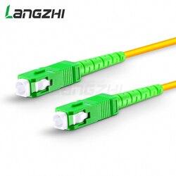 10 Pcs SC APC to SC APC Simplex 2.0mm 3.0mm PVC  Single Mode Fiber Patch Cable fibra optica  jumper fiber patch cord ftth