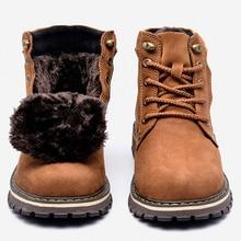 Größe 38 ~ 50 Echtem leder Männer Winter Stiefel Handgemachte Warme Full Grain Leder Männer Winter Schuhe