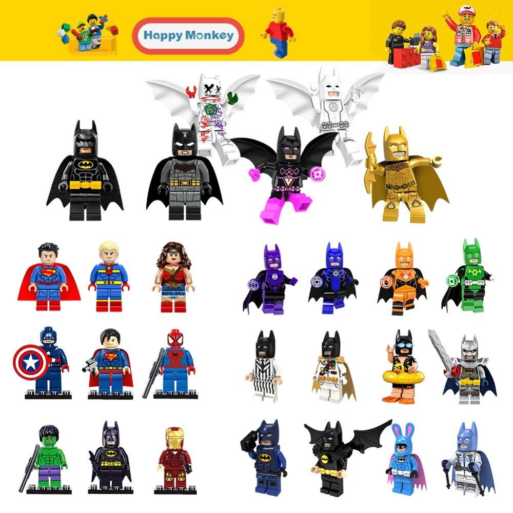 Children`s DIY Educational Toys Legoinglys Super Heroes Batman Building Blocks Superman Hulk Wonder Woman Iron Man Figures Zk20