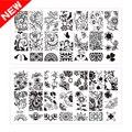 1 pcs New BC Série Lace Flowers Design Placas Nail Art Imagem Polonês Stamping Template Aço Impressão DIY Prego Selo ferramentas